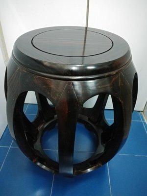 (優惠價) 印尼條紋烏木鼓櫈 (照價八折)