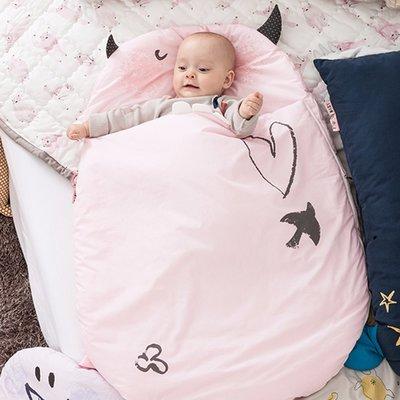 【現貨】 QB選物 ❤ 韓國 Daby ❤ 韓國製 / 達比小怪獸嬰兒多功能純棉睡袋-Daby