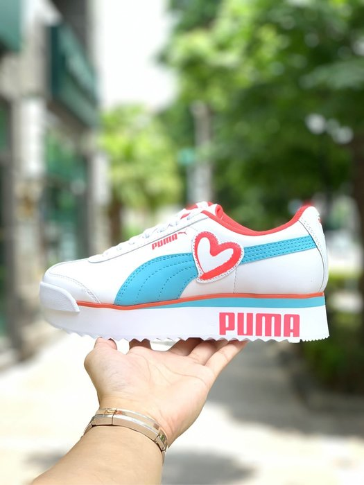 【Cheers】PUMA ROMA 粉藍 藍粉 增高 歐美限定款 女鞋 371861-01