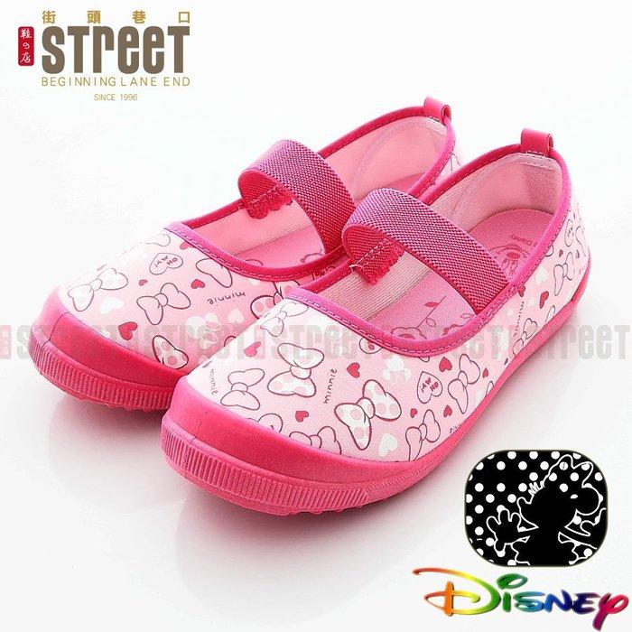 【街頭巷口 Street】Disney 迪士尼 米妮童鞋 粉色蝴蝶結 幼稚園必備室內室外鞋 休閒帆布鞋 M454421F