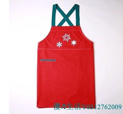 72H出貨 新年聖誕節萬用圍裙  紅色圍裙  工作服  美術工作服  美式圍裙
