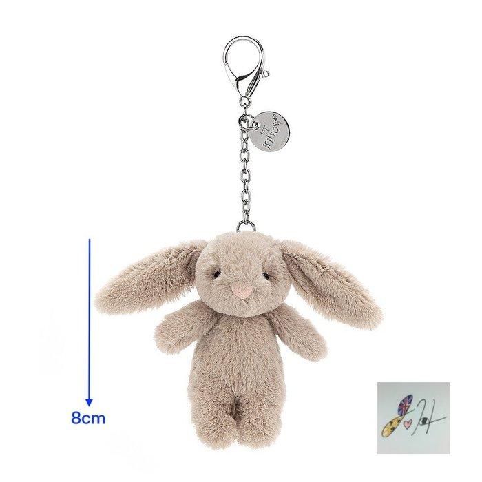當日寄出[現貨] 英國代購 英國JELLYCAT 兔子玩偶鑰匙圈 8cm 棕色