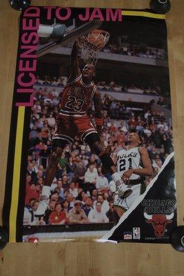 美國NBA職籃明星-Michael Jordan-1988年NBA之神劃破灌籃紀錄海報-是美國職業籃球史上最偉大的球員