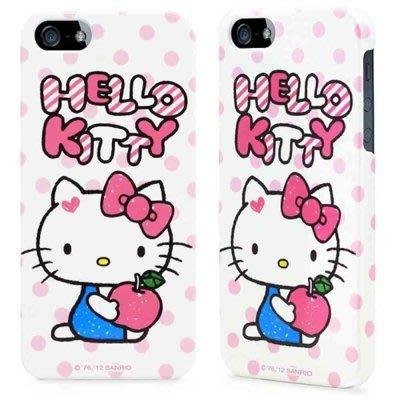 公司貨 GOMO Hello Kitty 凱蒂貓 iPhone SE/5/5S 保護殼 手機殼 -點點白