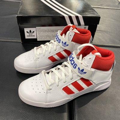Roy潮鞋專櫃代購 Adidas阿迪達斯三葉草VRX MID男子白紅高幫經典休閒滑板鞋FV0404