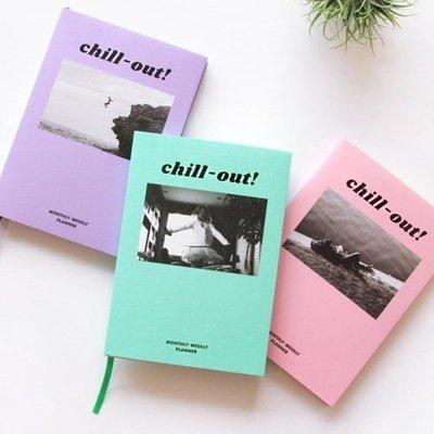 ♀高麗妹♀韓國 PAPERIAN Chill-out PLANNE 自在 週計劃行事曆/自填日期萬年手帳(2色選)預購