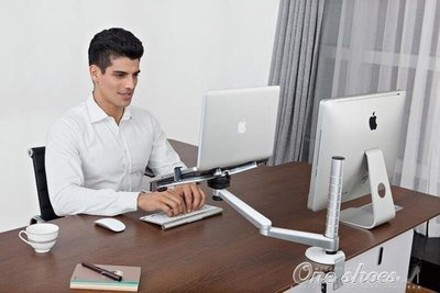 ZIHOPE 筆記本電腦桌支架IP平板支架蘋果散熱桌面支架升降臺ZI812