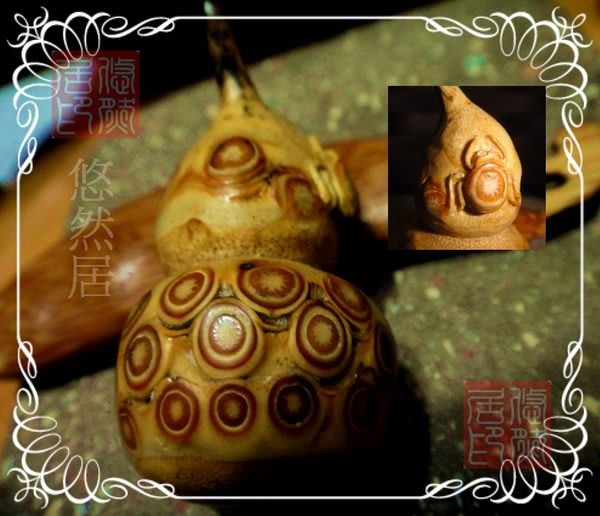 雅竹共賞 ~ 福祿雕瓢蟲 ~ 皮殼漂亮 ~ 已開始包漿 ~ 把玩件 ~ 可當吊飾 ~ 墬