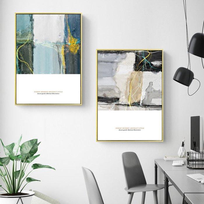 北歐風格現代簡約抽像個性藝術小眾裝飾畫畫芯微噴打印油畫布(3款可選)