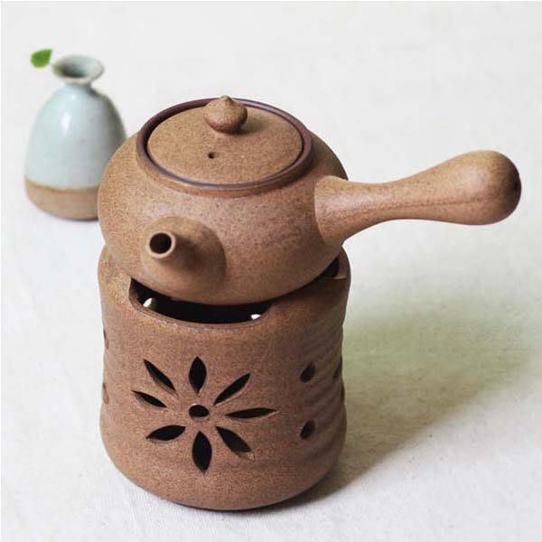 5Cgo【茗道】含稅會員有優惠  42394584674 茶道手工拉胚粗陶酒精茶爐普洱側把茶壺紅茶溫茶器煮茶爐功夫茶具