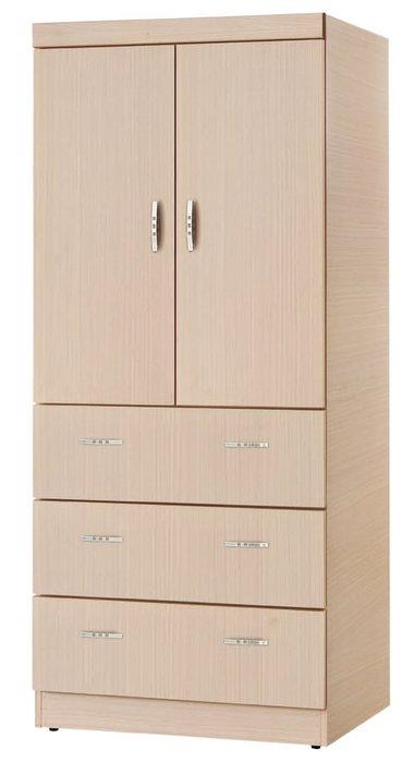 【南洋風休閒傢俱】精選時尚衣櫥 衣櫃 置物櫃 拉門櫃 造型櫃設計櫃- 高開白橡3*6尺開門衣櫃 CY186-236