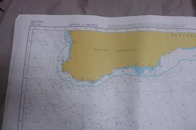 紫色小館90------DEPTHS IN METRES-AUSTRALIA SOUTH COAST