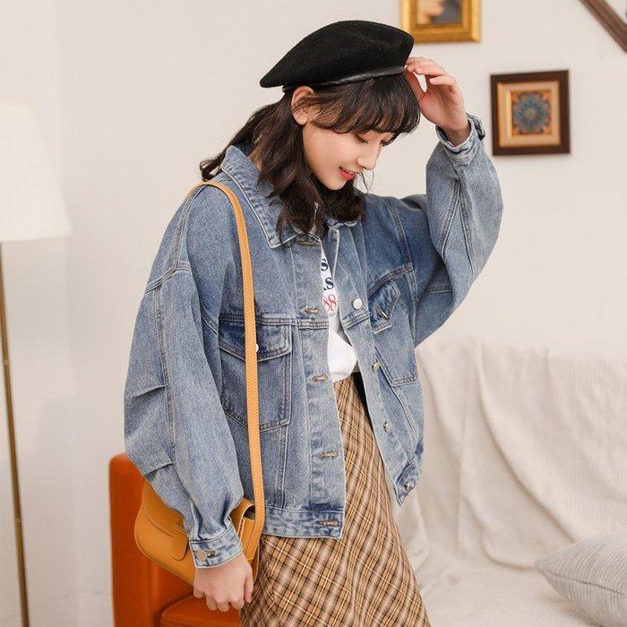 SeyeS  復古古著雜誌款美式休閒基本款牛仔外套