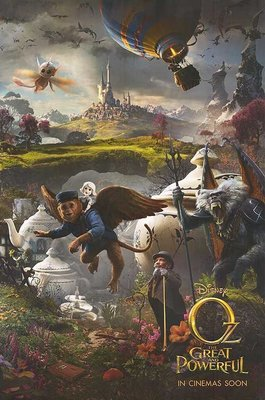 奧茲大帝 (Oz: The Great and Powerful) 🙈 美國原版雙面電影海報 (2013年預告版3)