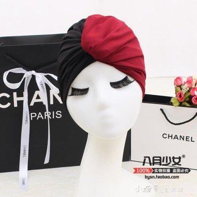 泳帽女長髪韓國時尚可愛成人女士護耳寬鬆不勒頭雙拼溫泉游泳帽布    全館免運