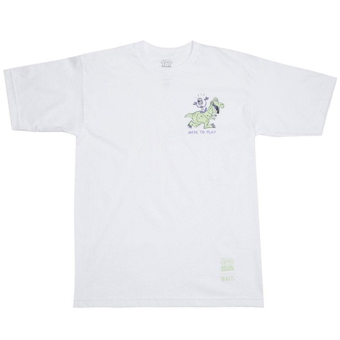 BEETLE BAIT TOY STORY MADE TO PLAY REX 抱抱龍 白色 短TEE S M L XL