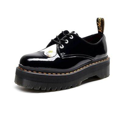【英爵倫】1461厚底3孔X Hello Kitty馬丁鞋女低幫真皮圓頭學生松糕底短靴女