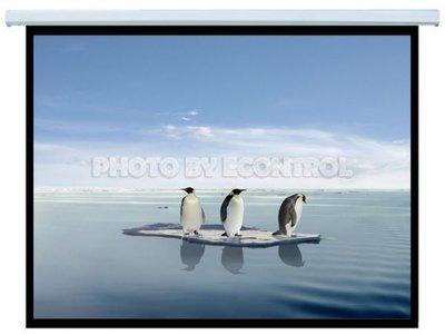 【易控王】投影機布幕 壁掛布幕、手拉布幕70x70 1:1 蓆白(20-004)
