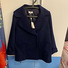 艾莉詩 Iris girls藍色羊毛大衣60%(全新標籤皆在) 下殺2499