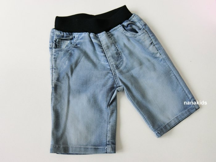 出清夏日款。男童裝。韓版牛仔中褲 短褲 (藍色) 現貨~nanakids娜娜童櫥