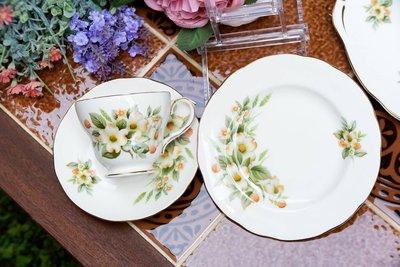 【旭鑫骨瓷】Duchess - Dogwood山茱萸系列 英國 瓷器 骨瓷杯組 (C.35)