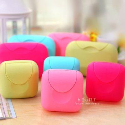 【可愛村】迷你糖果皂盒 攜帶式糖果色迷你香皂盒 肥皂盒 旅行盒