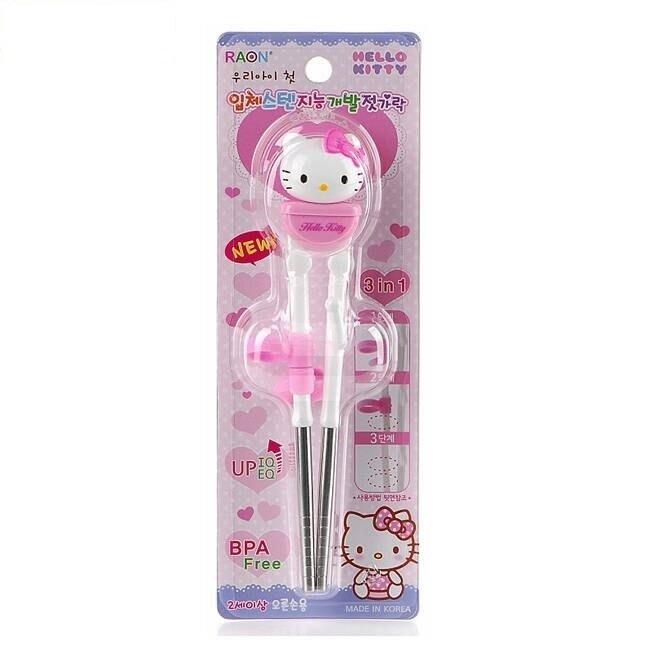 吉而登-Hello Kitty立體不鏽鋼學習筷(42020)
