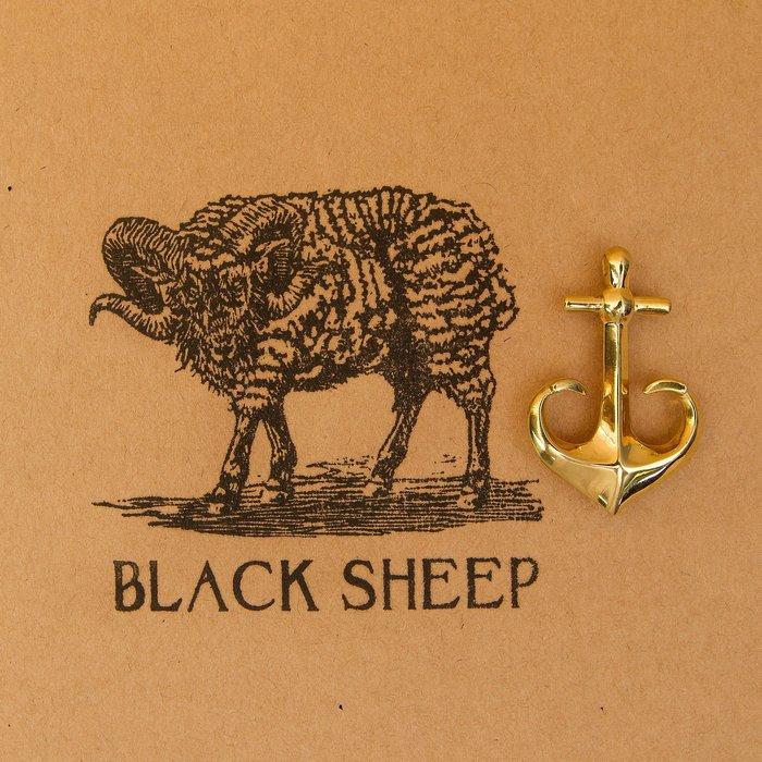 黑羊選物 黃銅鑰匙圈 船錨造型 鑰匙圈 隨身配件 送禮小物 養牛 復古 潮流 重機 哈雷 吊飾