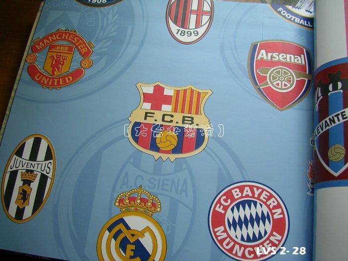 【大台北裝潢】LVS2進口平滑面純紙壁紙* 巴塞隆納.拜仁慕尼黑 足球俱樂部徽章 (3色) 每支1650元