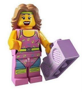 絕版品【LEGO 樂高】玩具 積木/ Minifigures人偶包系列: 5代 8805 單一人偶: 健身女教練