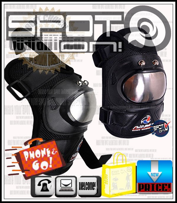 Spot ON - S07 金屬護具-白鐵不鏽鋼護片-短款兩件式 - 護膝組! APRILIA DORSODURO AP