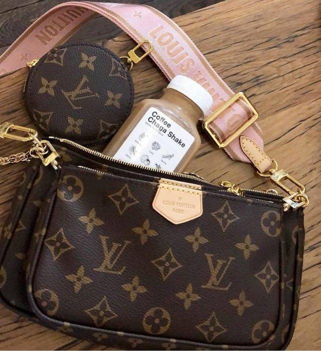 Louis Vuitton M44813 Multi Pochette Accessories 複合肩背包 粉紅背 現貨