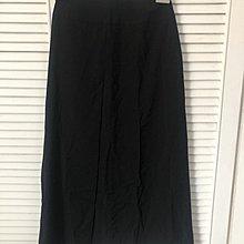 Laurel 100%Wool 黑色前後側開衩長裙