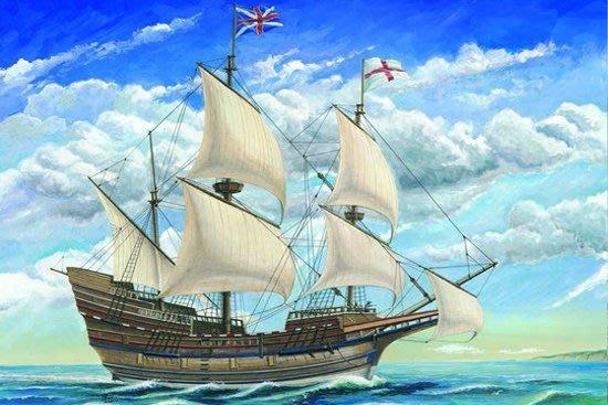 TRUMPETER 小號手 1/60 英國五月花帆船 01201