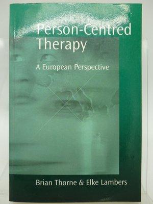 【月界二手書店2】Person-Centred Therapy_Brian Thorne_個人中心治療 〖心理〗CQG