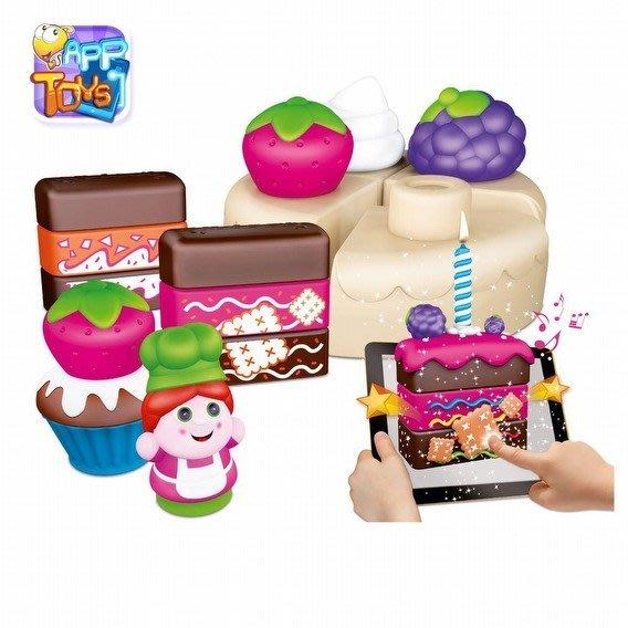 Chicco APP互動積木蛋糕烘培王-30pcs【 冒險新世界】 TwinS伯澄