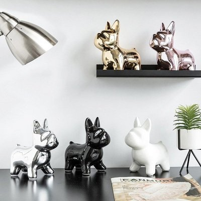 莉迪卡娜~北歐風格裝飾擺件創意ins小狗時尚可愛茶幾樣板房家居儲錢罐擺設