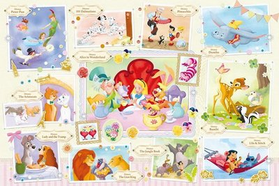 日本進口拼圖專賣店_1000片 迪士尼 Treasured Moments 立體晶鑽貼圖 97-002