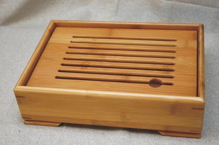 箱式茶盤 《極品孟宗竹茶盤- A級板》倒水式 (集水式)【聚寶堂】
