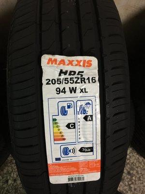 『北台中輪胎行  北屯店』~ MAXXIS 正新 205-55-16 HP5