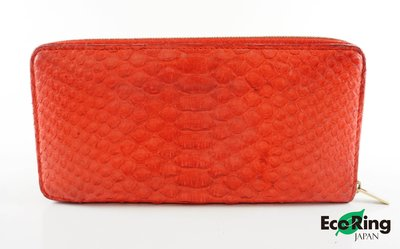 [Eco Ring HK]*Celine Long Wallet SIN0112 Red Python*Rank B-197004937-