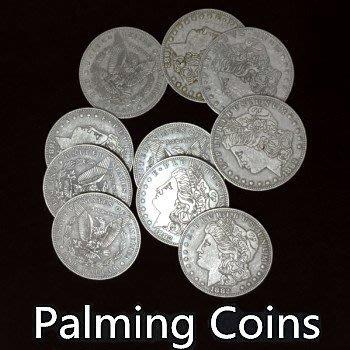 【意凡魔術小舖】超薄幣掌中硬幣(摩根幣版本,1個裝)鐵幣制可被磁鐵吸附硬幣魔術
