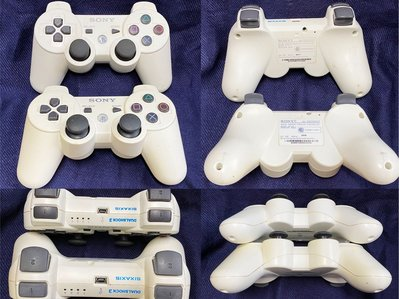 Sony PlayStation 3 PS3 原廠無線手把*2 (白色CECHZC2T)
