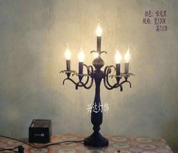 【優上精品】歐式蠟燭臺燈客廳餐廳酒店臥室咖啡廳旅館燈飾燈具(Z-P3231)