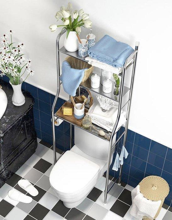 不鏽鋼馬桶置物架 馬桶上方收納架 浴室收納層架 三層架 不銹鋼置物架 馬桶架 小冰箱置物架