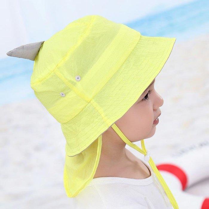 寶寶帽 子夏季 1-3 歲男孩 遮陽帽 兒童太 陽帽薄 款漁夫 帽嬰兒 防曬帽 女 帽子 防曬帽  兒童帽子 太陽帽 正韓