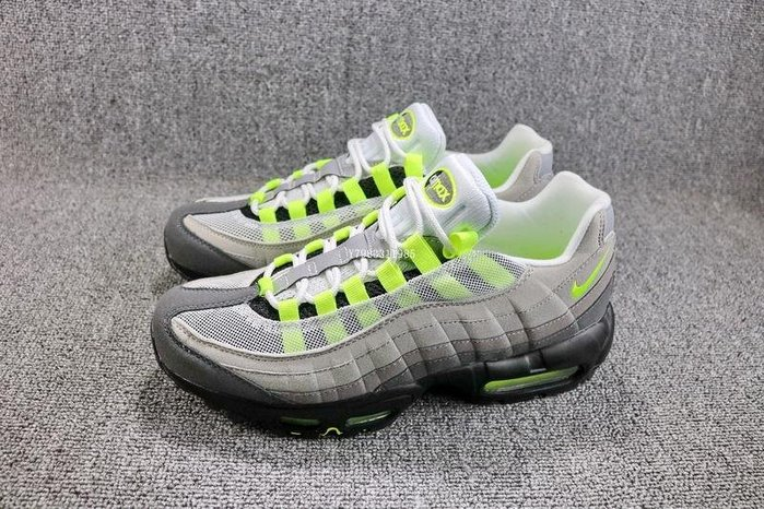 NIKE AIR MAX 95 OG 灰黃 復古 網面 氣墊 休閒運動慢跑鞋 男鞋 554970-071
