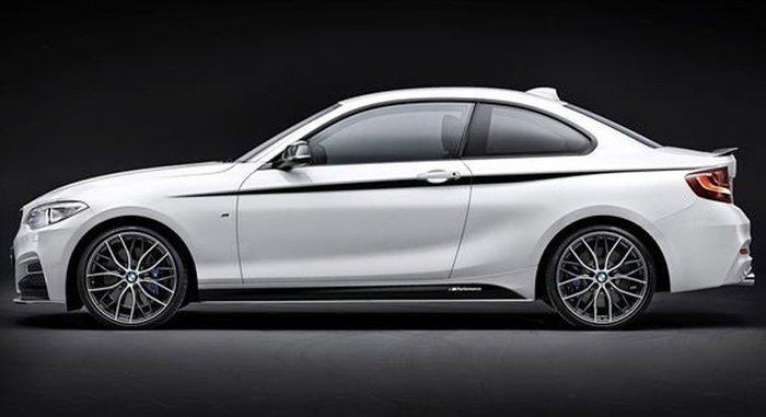 【樂駒】BMW 原廠 F22 M-Performance 側裙 貼紙 改裝 套件  外觀 空力