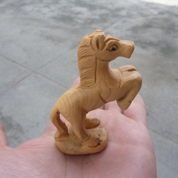 旦旦妙 黃楊木雕工藝品小擺件手把件:馬到成功 一馬當先 棒棒的178