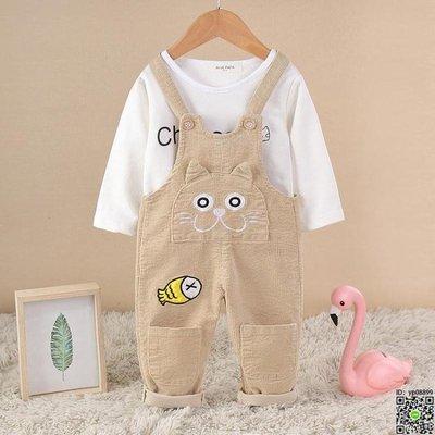 吊帶褲 吊帶褲套裝春秋男女寶寶吊帶褲洋氣嬰幼兒4夏裝0-1-3歲兩件套 4款